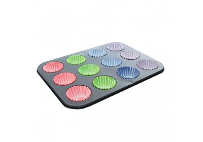 Forma muffiny 12+košíčky silikonové 72