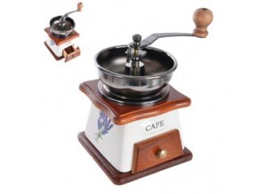 Mlýnek na kávu keramika/dřevo Orion