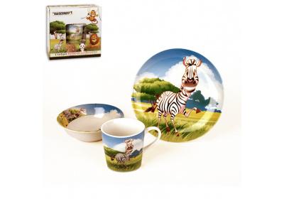 Dětský jídelní set,zebra