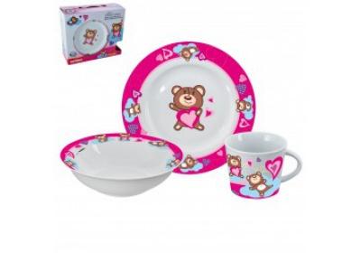 Sada jídelní dětská, porcelánová  3ks