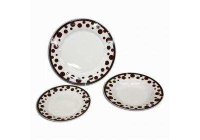 Porcelánová 18 dílná souprava talířů Orion