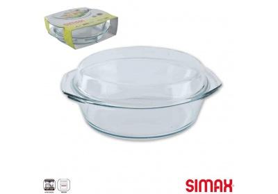 Pekáč sklo+víko kulatý SIMAX, 26cm, 3,5l+1,6l