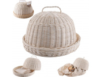 Chlebovka rattan kruh + utěrka