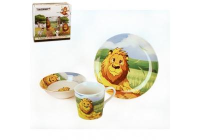 Dětský jídelní set, lev