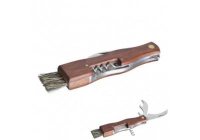 Nůž houbařský + štětec