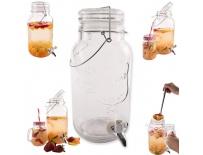 Láhev sklo+kohoutek 3,5 l