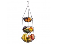 Košík na ovoce drát 3 BROWN závěsný