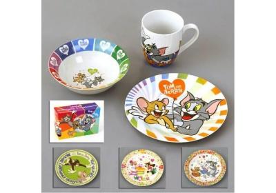 Sada jídelní dětská, porcelánová Tom a Jerry 3ks Orion