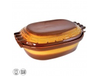 Pekáč keramika glazura 6 l víko