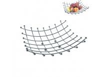 Košík na ovoce chrom 28x28